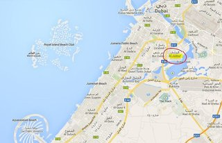 Hotel Marriott Hotel Al Jaddaf Dubai Landkarte