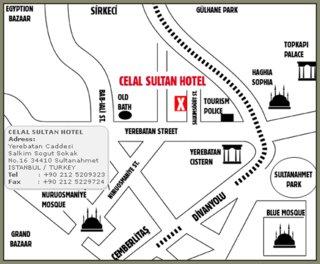 Hotel Celal Sultan Landkarte