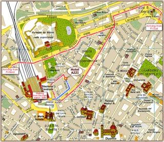 Hotel Hotel Azzi Landkarte
