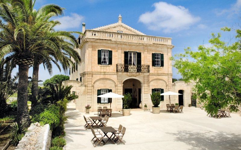 Das Landhas Alcaufar Vell auf Menorca