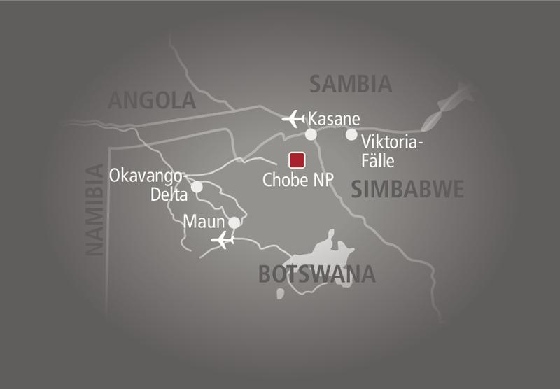 Belmond Savute Elephant Camp Landkarte