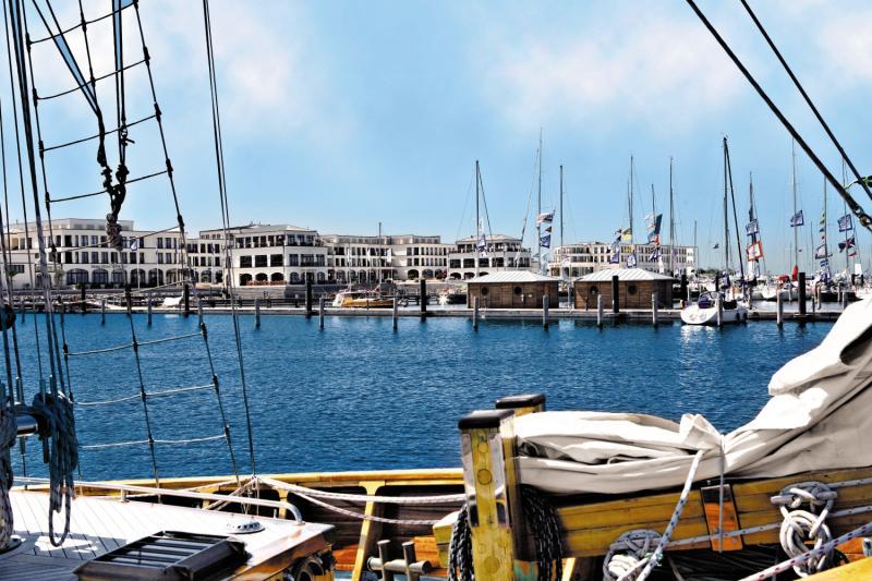 Yachthafenresidenz Hohe Düne Terrasse
