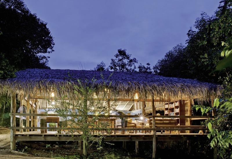 Anavilhanas Jungle Lodge Terrasse