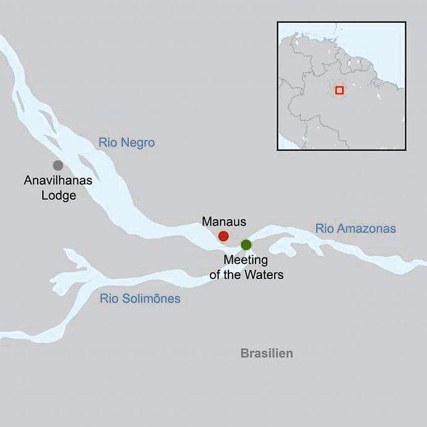 Anavilhanas Jungle Lodge Landkarte