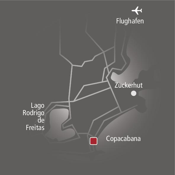 Hotel Emiliano Rio de Janeiro Landkarte