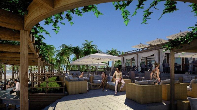Beachwalk Resort Terrasse