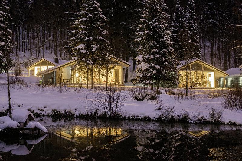 Ferienhaus Lichtung Terrasse